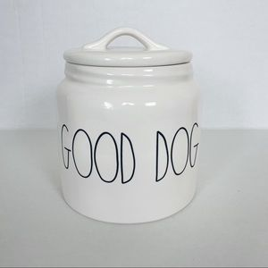 Rae Dunn Good Dog Treat Cookie Canister Jar White